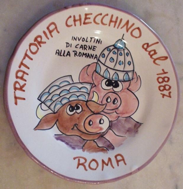 L'attuale Piatto del Buon Ricordo di Checchino dal 1887 (2003-?)