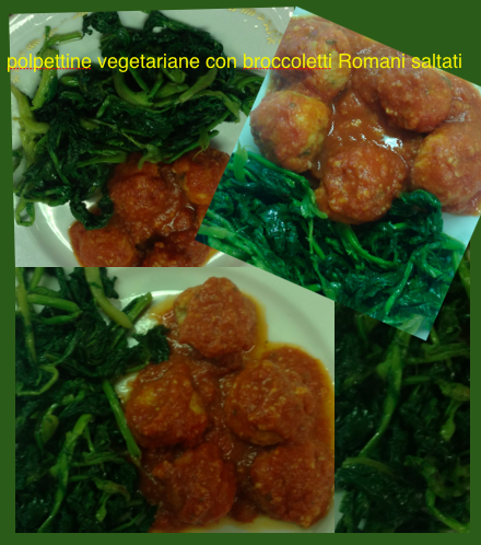 Polpettine vegetariane con broccoletti saltati